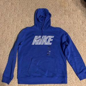 Blue and Grey Nike Hoodie